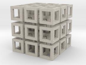 Cubo in Natural Sandstone