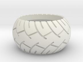 MotoRing in White Natural Versatile Plastic