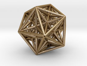 Morphoedron from internal icosahedron to external  in Polished Gold Steel