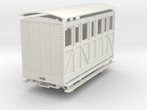 "On16.5 saloon ""woody"" coach in White Natural Versatile Plastic"