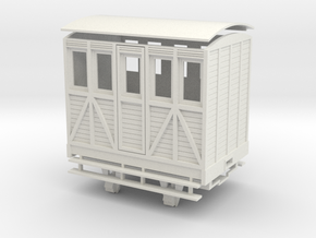 """On16.5 1 compartment """"woody"""" coach in White Natural Versatile Plastic"""