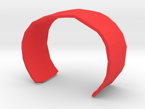 Cell Cuff Faceted (48mm Inner Radius) in Red Processed Versatile Plastic