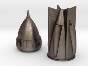 Rocket 6 v2 in Polished Bronzed Silver Steel