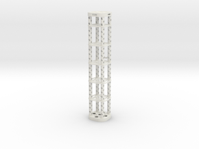 NMR Tube Holder Mark IV in White Strong & Flexible