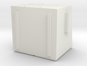 N 4 Yard dumpster in White Natural Versatile Plastic