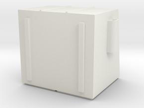N 4 Yard dumpster in White Natural Versatile Plastic