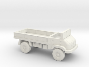 1:144 Unimog 404S Flatbed in White Natural Versatile Plastic