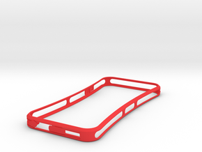 Brute with plugs for iPhone 5 in Red Strong & Flexible Polished