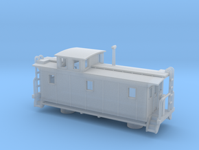 DMIR K1 Steelside Early Caboose - Nscale in Frosted Ultra Detail
