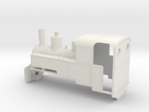 B-1-76-decauville-8ton-060-closed-roco-2b - OO9 in White Natural Versatile Plastic