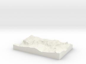Model of Yosemite Village in White Strong & Flexible