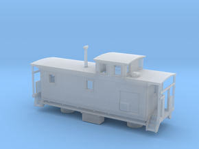 DMIR K1 Steelside Caboose Late - Zscale in Smooth Fine Detail Plastic