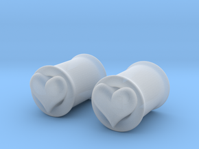 Heart 8mm (0 gauge) tunnels in Smooth Fine Detail Plastic