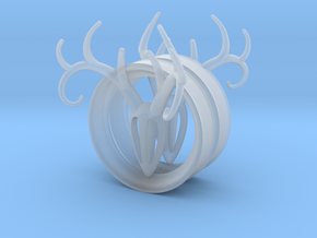 2 Inch Antler Tunnels in Smooth Fine Detail Plastic