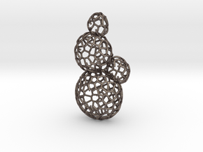 Star Coral Earring in Polished Bronzed Silver Steel