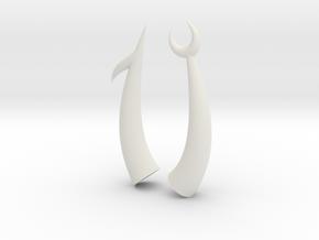 Scorpion Horns in White Natural Versatile Plastic