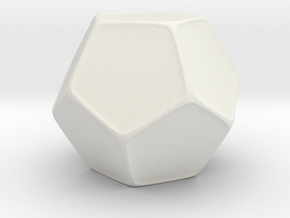 Blank D12 Honeycomb in White Natural Versatile Plastic