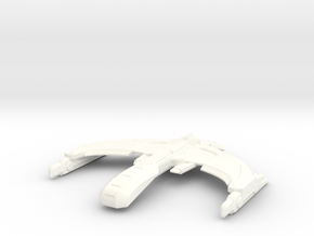 Romulan Zeuron Class Invader in White Processed Versatile Plastic