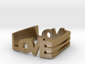 Love in Polished Gold Steel