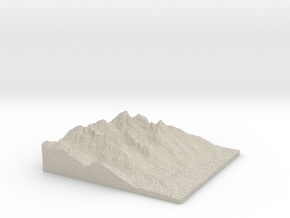 Model of Disappointment Peak in Natural Sandstone