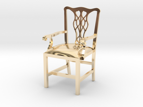 "Cambridge Councill Arm Chair 3"" tall in 14K Yellow Gold"