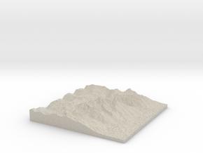 Model of Grand Teton in Natural Sandstone