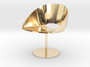 """Davis Lipse Seating Pedestal base 3.7"""" tall in 14K Yellow Gold"""