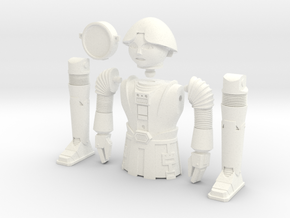 "Twiki from Buck Rogers - Mego like (fits with 8"" f in White Processed Versatile Plastic"