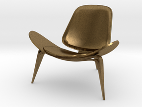 "Steelcase Shell Chair 2.8"" tall in Natural Bronze"