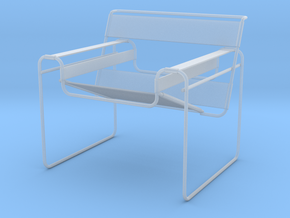 "Wassily Chair 3.7"" tall in Smooth Fine Detail Plastic"