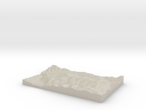 Model of Vail in Natural Sandstone