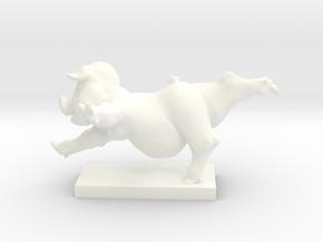 Pig Arabesque 50 mm in White Processed Versatile Plastic