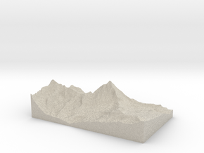 Model of Cervinia in Natural Sandstone