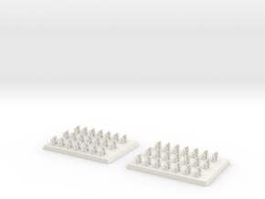 2mm DBA Light Cavalry 40x30mm in White Natural Versatile Plastic