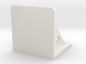 Naza LED Mount in White Natural Versatile Plastic