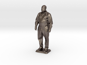 Chris R - Pre Maker Faire Meetup May 2014 in Polished Bronzed Silver Steel