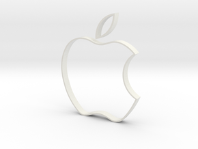 Apple Cookie Cutter in White Natural Versatile Plastic