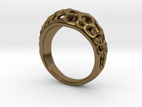Bubble Ring No.1 in Polished Bronze