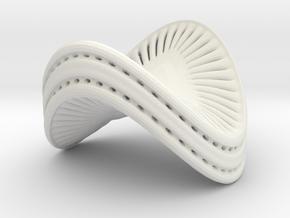 Campylodiscus Hibernicus 2 Small in White Natural Versatile Plastic