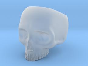 Skull Ring - Size 10 (inner diameter = 19.76 mm) in Smooth Fine Detail Plastic