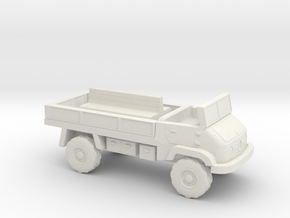 1:144 MERCEDES BENZ UNIMOG 404S troop carrier V2 in White Natural Versatile Plastic
