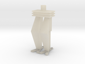 Robot Figure (Legs) in White Acrylic