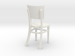 1:24 Restaurant Chair (Not Full Size) in White Natural Versatile Plastic