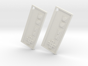 Nes Earrings in White Natural Versatile Plastic