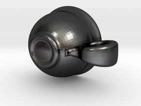 Teacup in Polished Grey Steel