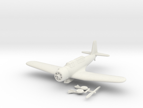 1/144 Vought SB2U Vindicator in White Natural Versatile Plastic