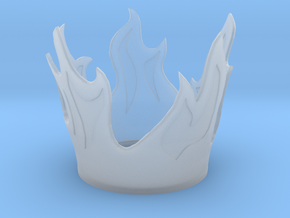 Flame Candle Holder in Smooth Fine Detail Plastic