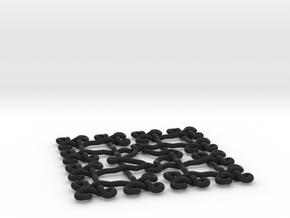 Fractal Celtic knot pendant in Black Natural Versatile Plastic