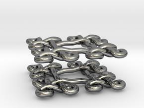 Fractal Celtic knot earrings in Fine Detail Polished Silver