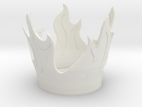 Flame Candle Holder in White Strong & Flexible